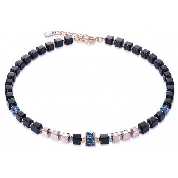 Pavé crystals, Swarovski® Crystals, glass, cut glass & haematite: deep blue